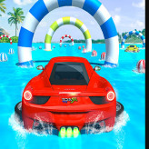 Water Surfing Car Stunts Car Racing Game